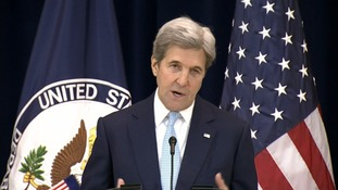 John Kerry said that peace in the Middle East was in 'jeopardy'