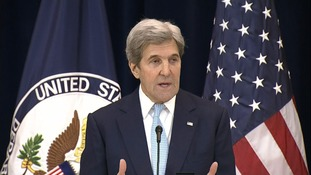 John Kerry said the hopes for peace were 'slipping away'