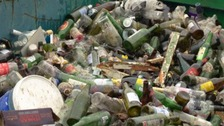 Bottles at landfill