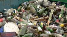 Bottles at landfill