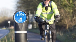 Safer new route for cyclists near Fleetwood