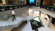FTSE 100 inside the London Stock Exchange.