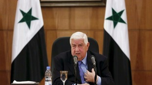 Syria's foreign minister said there is a 'real chance' for political settlement