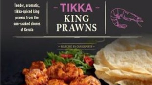 Aldi Specially Selected Tikka King Prawns recalled over salmonella fear