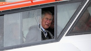 Prince Charles in NZ Coastguard vessel
