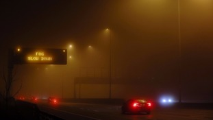 Drivers warned to take 'extreme caution' in freezing fog