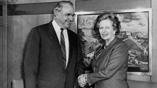 Margaret Thatcher with former chancellor of Germany Helmut Kohl.