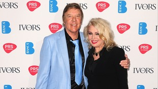 Marty Wilde with his daughter Kim at the 2013 Ivor Novello awards.