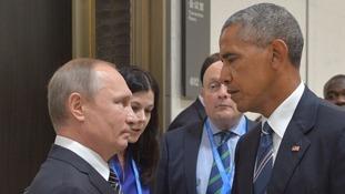 Vladimir Putin and Barack Obama.