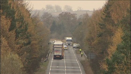 The crash on the A1 has led to long delays and traffic disruption