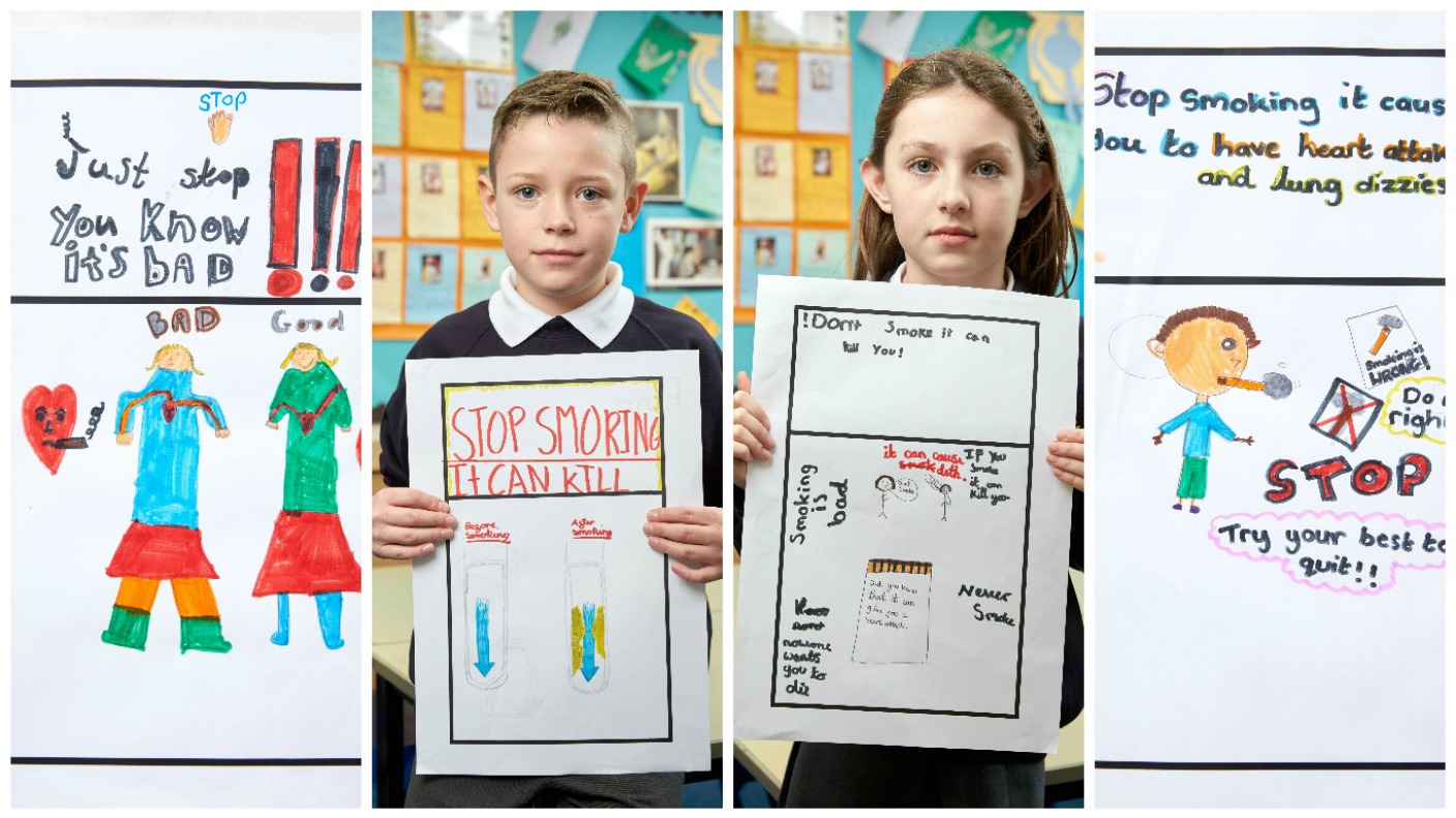 Children design cigarette packets as part of latest stop smoking campaign