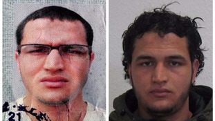 Handout photos of Berlin truck attack suspect Anis Amri.