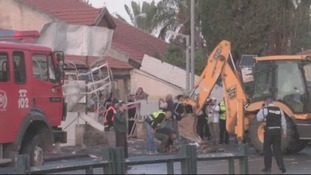 The rocket strike in the town of Netivot