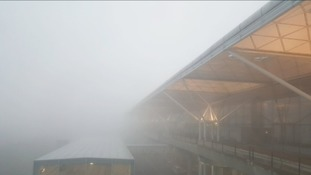 Fog is delaying flights to and from Stansted airport.