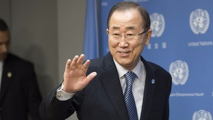 UN chief Ban Ki-Moon bids farewell to staff
