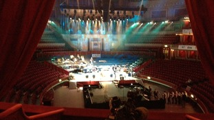 Filming at Royal Albert Hall ahead of the Music For Youth performance tonight.