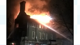 Revellers rescued from roof in huge pub fire on New Year's night