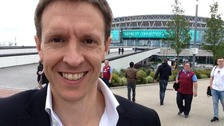 Steve Clamp at Wembley Stadium
