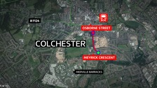 The man was assaulted in Colchester.