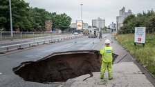 The Mancunian Way sinkhole caused misery for many in 2016