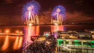 Thousands watch the UK City of Culture fireworks display
