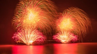 Spectacular fireworks light up the Humber