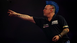 Peter Wright is out of the World Darts Championship.