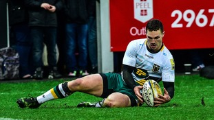 George North made his return to the Northampton Saints squad yesterday.