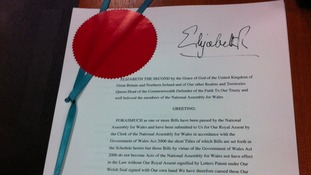 Letters Patent signed by the Queen showing her assent for the Official Languages Bill