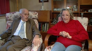 Second World War veteran Harold Trace, 86 and his wife Joyce, 82, from Ashford in Surrey, were scammed out of £3,000 by conmen.