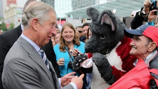 Prince Charles meets the crowds in New Zealand