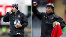 Aaron Mauger (left) will take interim charge of Leicester Tigers after Richard Cockerill was dismissed.