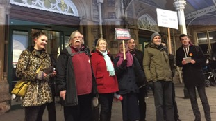 Protesters gather outside Bristol Temple Mead