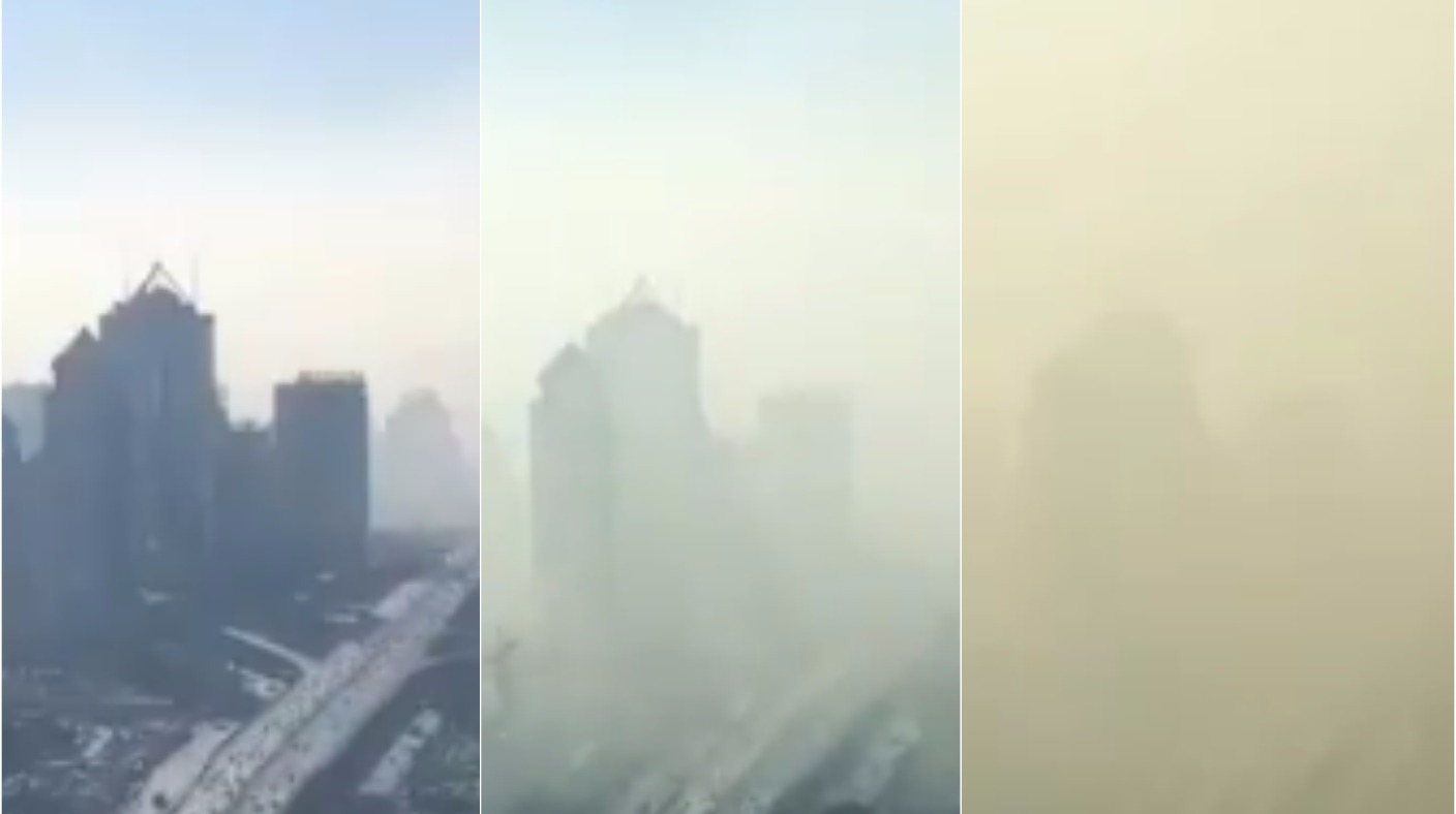 Smog Rolls Into Beijing In Incredible Time Lapse Video