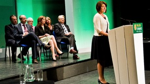 Leanne Wood addresses Plaid Conference