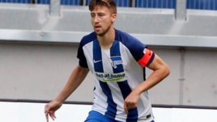 Jens Hegeler in action for Hertha Berlin