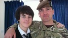 Callum with his dad Captain Walter Barrie