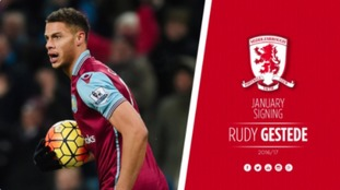 Boro complete the signing of Rudy Gestede