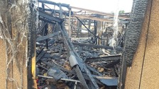 The aftermath of the blaze.