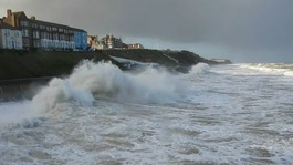 Flood warning as storm surge hits East Anglian coast