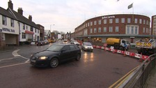 Road closures at John Lewis in Norwich.