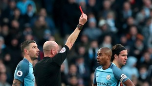 Manchester City lose appeal over Fernandinho red card
