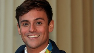Tom Daley returns home for book signing