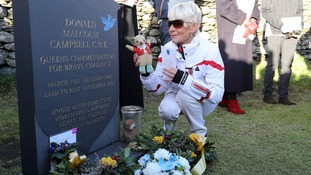 Wreaths were laid at Campbell's grave 50 years on