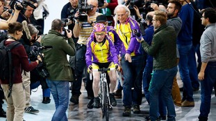 Cyclist, 105, sets world record after clocking up 14 miles in an hour