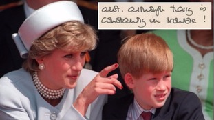 Princess Diana's letters about William and 'naughty' Harry sell for £15,000
