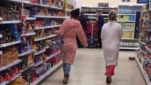 Customer posts photo of 'disgusting' Tesco shoppers in pyjamas in Salford