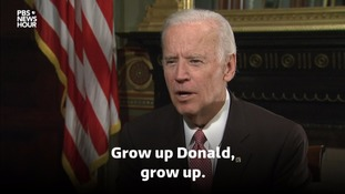 Joe Biden tells Donald Trump to 'grow up' over Russian hacking claims