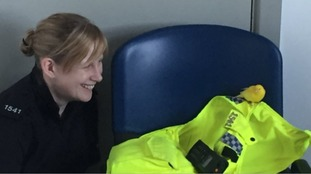 PC Vicky Thompson with Jimmy.