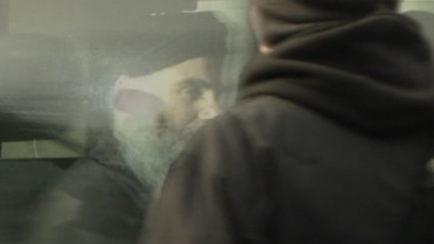 First shot of Abu Qatada after bail release.